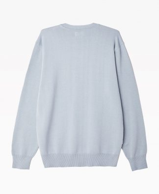 Obey Clothing Traces Sweater Blue Back