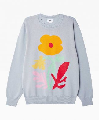 Obey Clothing Traces Sweater Blue Front