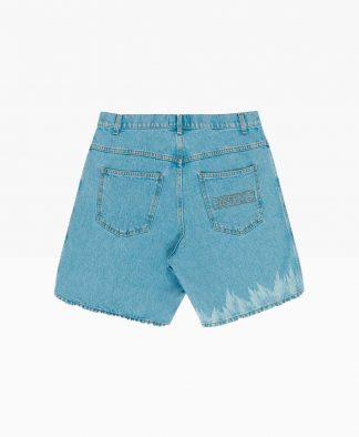 Pas De Mer Hot As Hell Shorts Denim Blue Back
