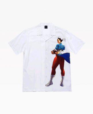 Huf Chun Li Resort Shirt White Front