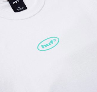 Huf Her Ss Tee White Detail