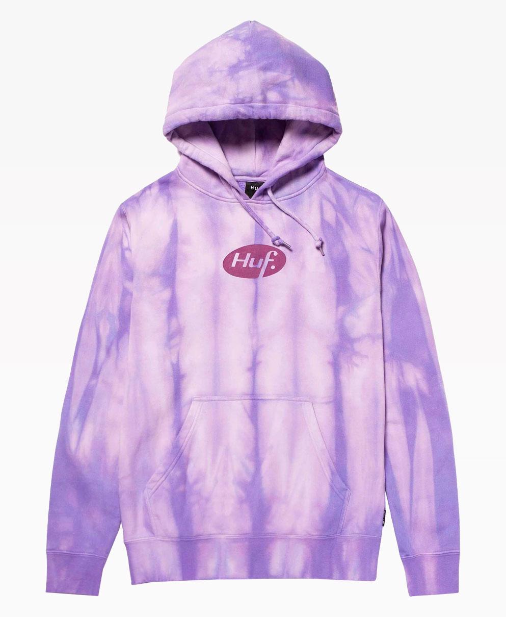 Huf Relax Tie Dye Hoodie Violet Front