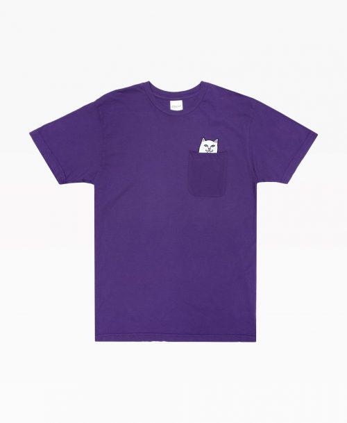 Ripndip Lord Nermal Pocket Tee Royal Purple Front