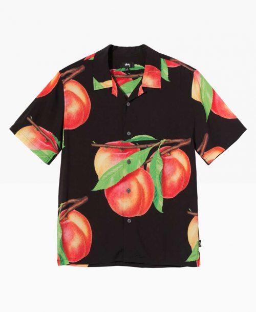 Stussy Peach Pattern Shirt Black Front