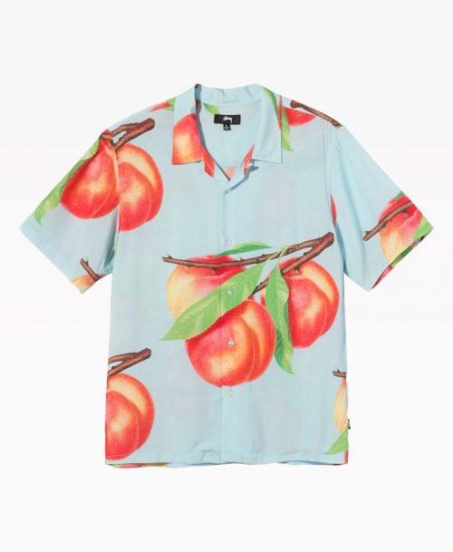 Stussy Peach Pattern Shirt Light Blue Front