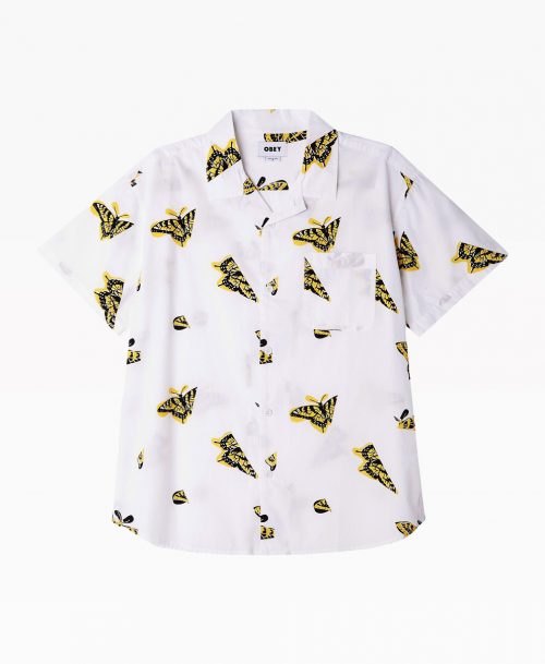 Obey Buterfly Shirt White Front