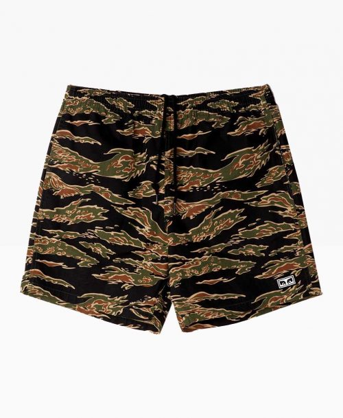 Obey Easy Relaxed Camo Short Tiger Front