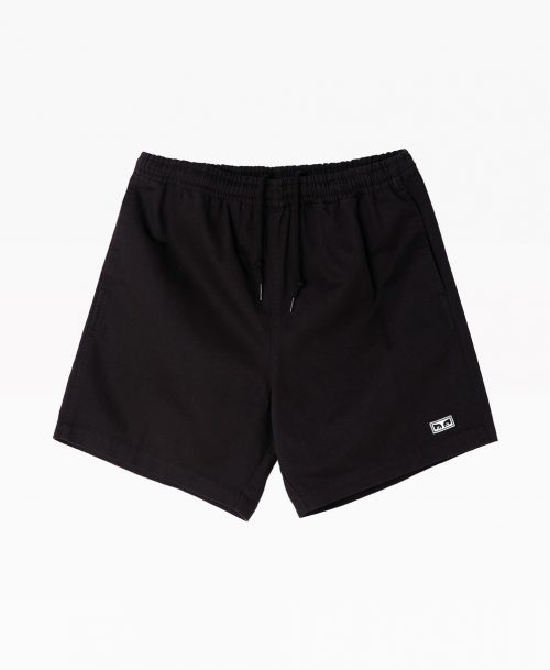 Obey Easy Relaxed Twill Short Black Front