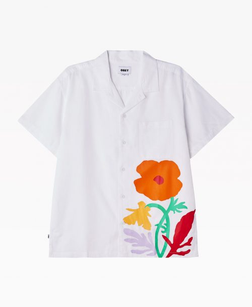 Obey Nico Shirt White Front