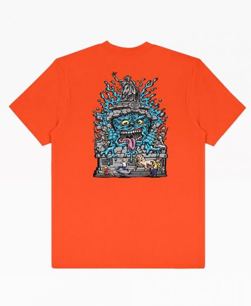 Wasted X Jimbo Phillips Repu Monster Orange Tee Back