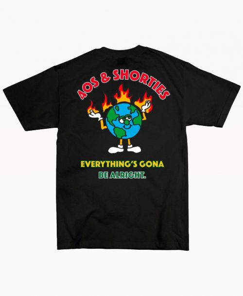 40s Be Alright Black Tee Back