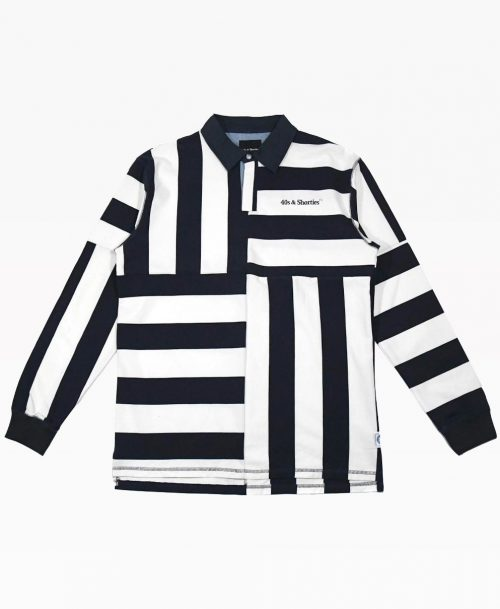 40s Heavy Striped Rugby Shirt Front