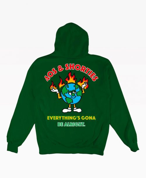 40s Be Alright Hoodie Kelly Green Back