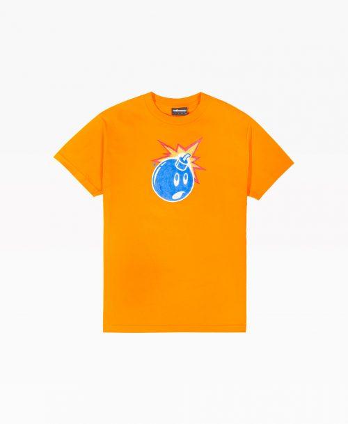 Adam Bomb Orange Tee Front