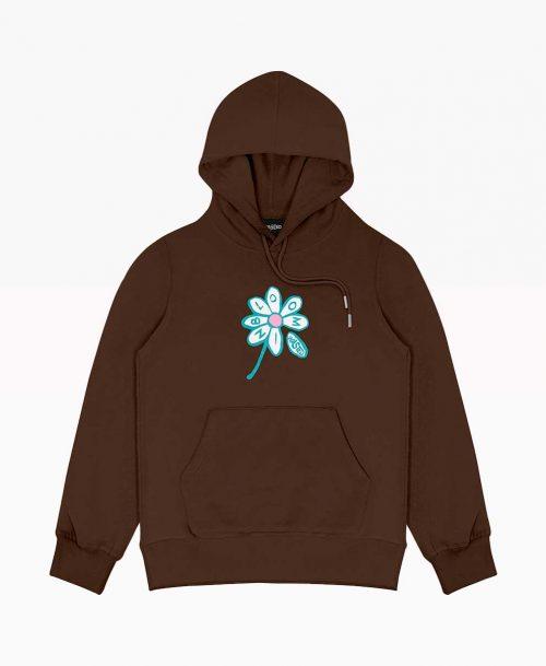 Brown Flower Hoodie