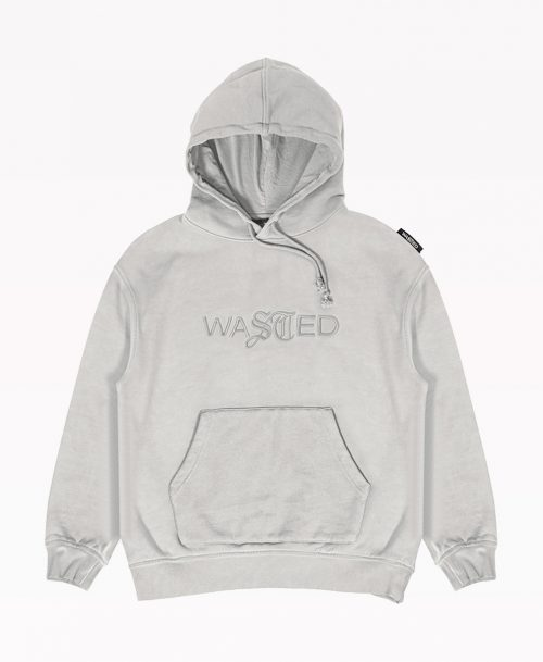 Wasted Gray Hoodie Front