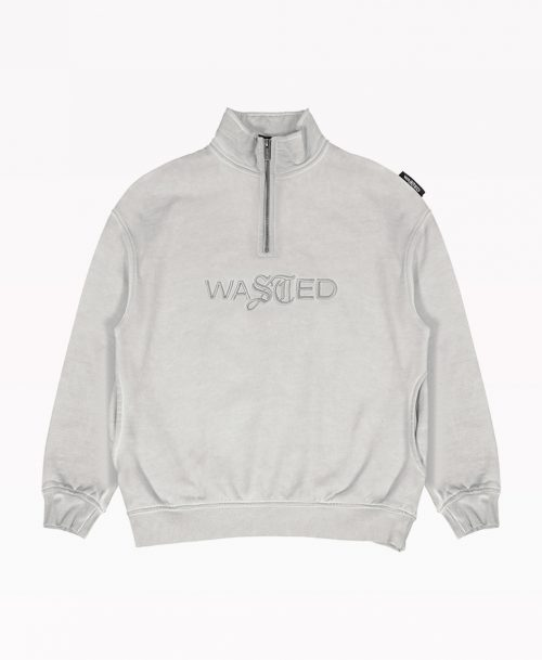 Wasted Gray Zip Front