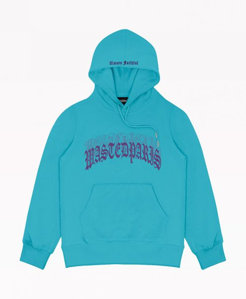 Wasted Hoodie Blue Front