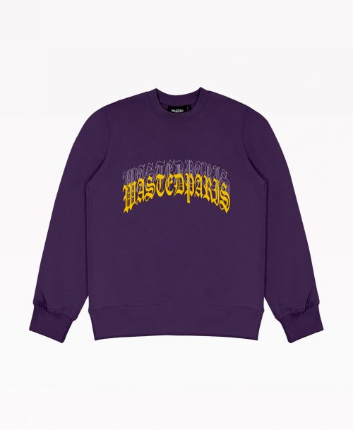 Wasted Hoodie Purple Front